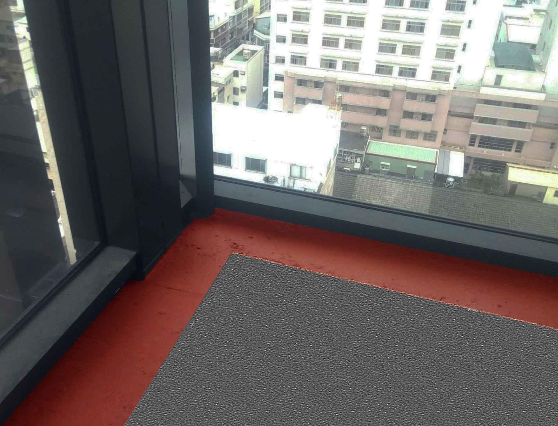 磚紅色構造為乾掛式外牆(如玻璃帷幕牆......)與樓板間之防火層間塞。