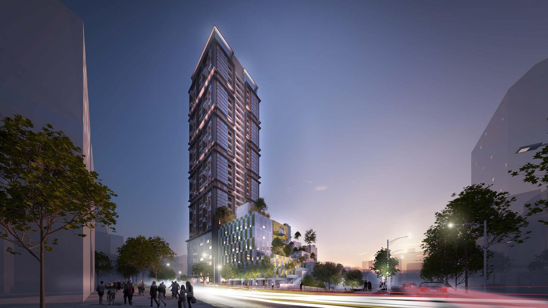 這裡未來將興建地下5層、地上34層的住商複合式大樓,打造商圈新地標。