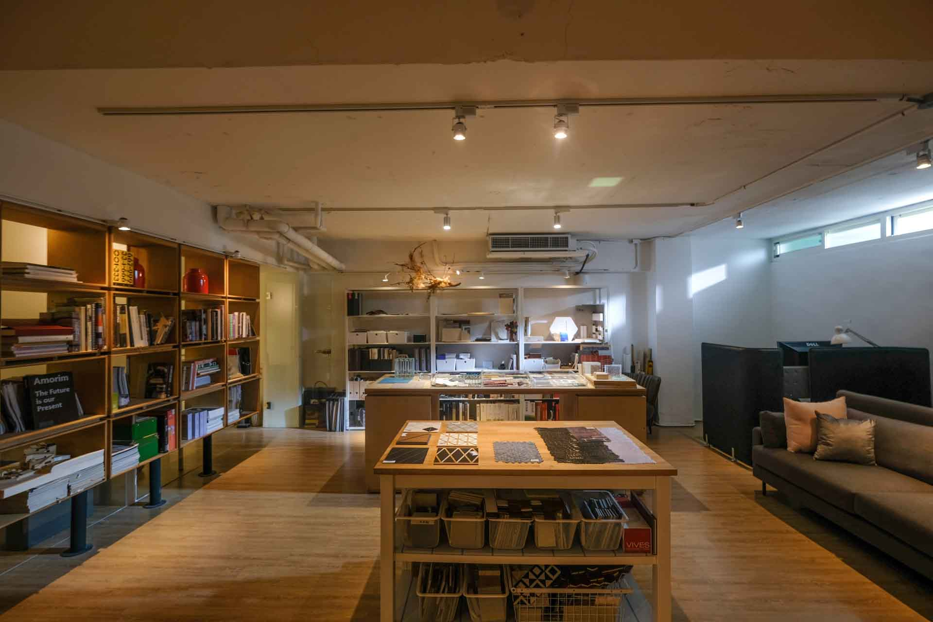 全台首創的室內材料圖書館,提供設計師近距離接觸材料元素,激盪創意。