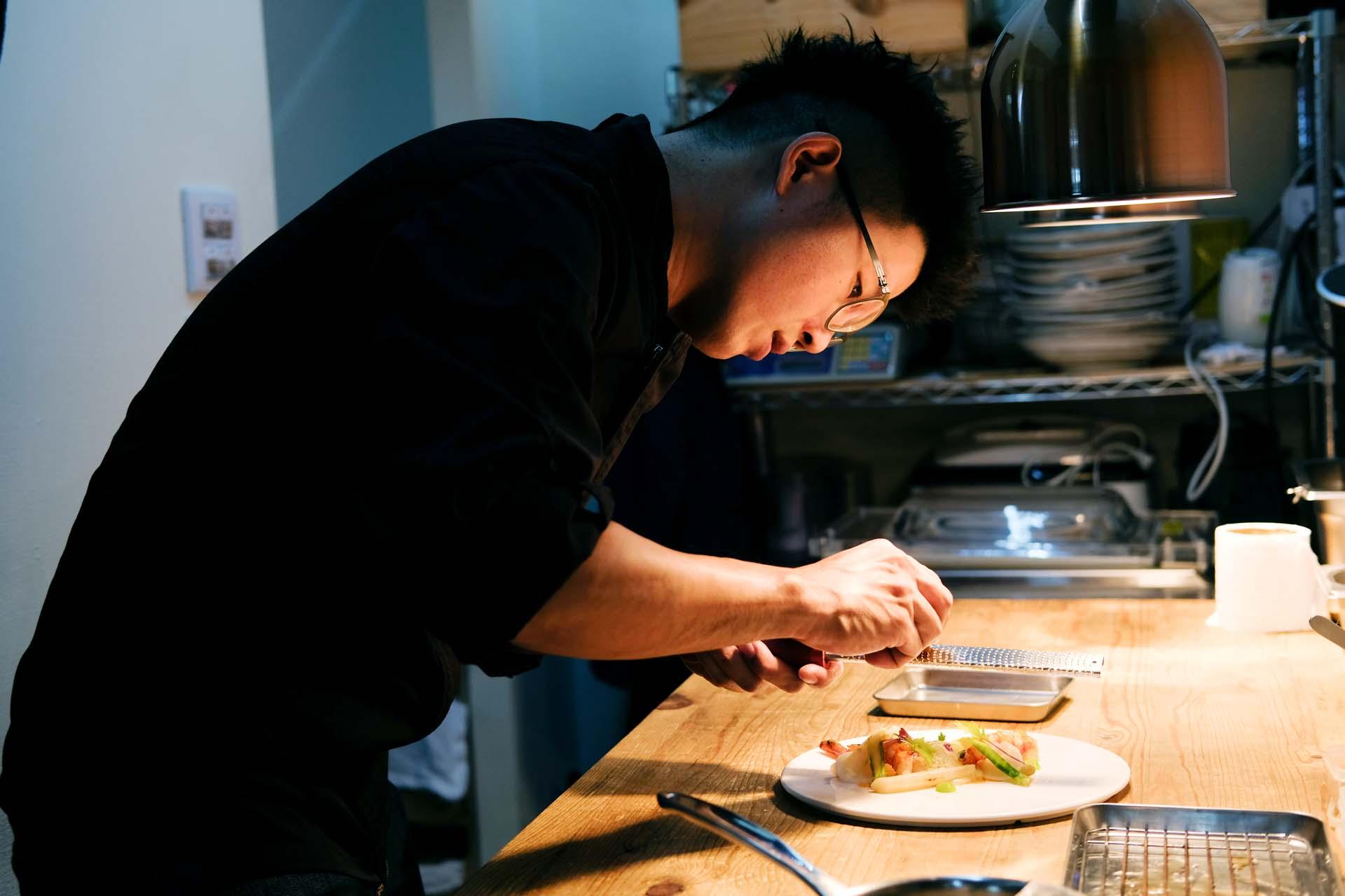 主廚之一凱維負責內場,細膩的調味手法耐人尋味。