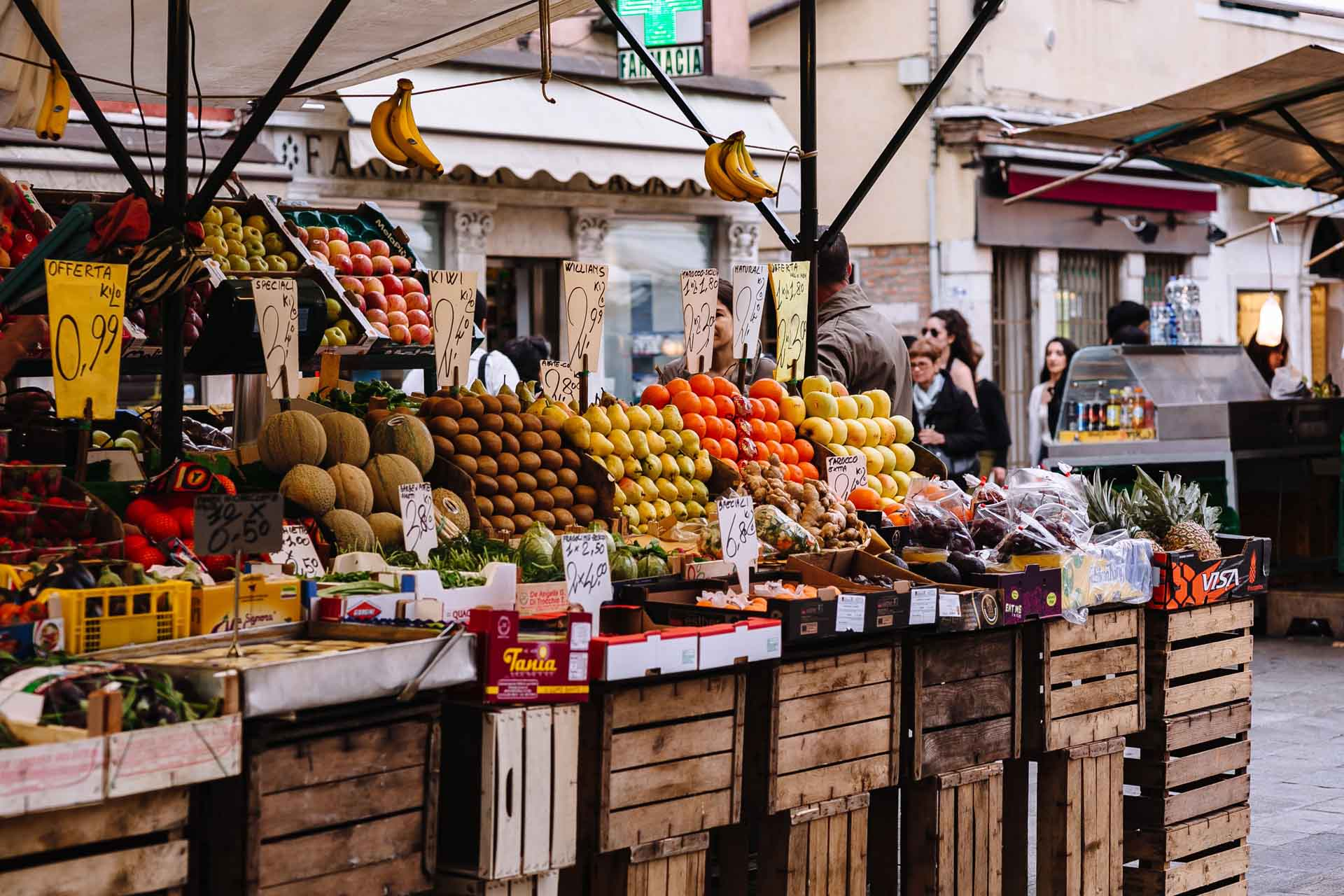 kaboompics_Fruit market with various colorful fresh fruits